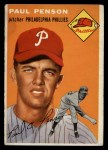1954 Topps #236   Paul Penson Front Thumbnail