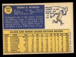 1970 Topps #259   Tommie Reynolds Back Thumbnail