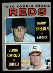 1970 Topps #36   -  Danny Breeden / Bernie Carbo Reds Rookies Front Thumbnail