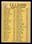 1970 Topps #68  1969 AL ERA Leaders  -  Dick Bosman / Mike Cuellar / Jim Palmer Back Thumbnail