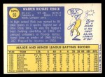 1970 Topps #93  Rick Renick  Back Thumbnail