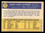 1970 Topps #123   Don Gutteridge Back Thumbnail