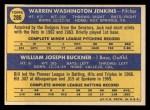 1970 Topps #286  Dodgers Rookie Stars  -  Jack Jenkins / Bill Buckner Back Thumbnail