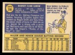 1970 Topps #290   Rod Carew Back Thumbnail