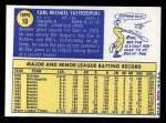1970 Topps #10  Carl Yastrzemski  Back Thumbnail