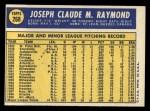 1970 Topps #268   Claude Raymond Back Thumbnail