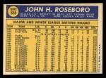 1970 Topps #655   John Roseboro Back Thumbnail