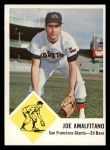 1963 Fleer #36  Joe Amalfitano  Front Thumbnail