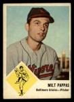 1963 Fleer #3   Milt Pappas Front Thumbnail