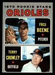 1970 Topps #121  Orioles Rookie Stars  -  Fred Beene / Terry Crowley Front Thumbnail