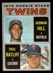 1970 Topps #267  Twins Rookies  -  Herman Hill / Paul Ratliff Front Thumbnail
