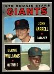1970 Topps #401  Giants Rookie Stars  -  John Harrell / Bernie Williams Front Thumbnail