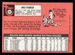 1969 Topps #493 YN  Wes Parker Back Thumbnail