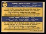 1970 Topps #429  Cubs Rookie Stars  -  Randy Bobb / Jim Cosman Back Thumbnail