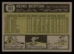 1961 Topps #392   Reno Bertoia Back Thumbnail