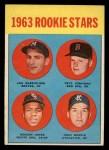 1963 Topps #253   Rookie Stars  -  Deacon Jones / John Wojcik / Pete Jernigan / Len Gabrielson Front Thumbnail