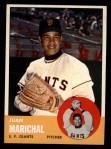 1963 Topps #440   Juan Marichal Front Thumbnail
