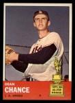 1963 Topps #355   Dean Chance Front Thumbnail