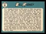 1965 Topps #66   Bill Rigney Back Thumbnail