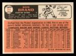 1966 Topps #394  Ron Brand  Back Thumbnail