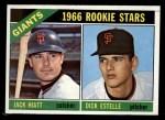 1966 Topps #373  Giants Rookies  -  Jack Hiatt / Dick Estelle Front Thumbnail