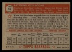 1952 Topps #55 RED  Ray Boone Back Thumbnail