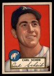 1952 Topps #116   Carl Scheib Front Thumbnail