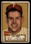 1952 Topps #59 BLK Robin Roberts  Front Thumbnail