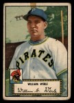 1952 Topps #73 BLK  Bill Werle Front Thumbnail