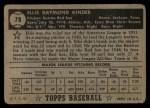 1952 Topps #78 BLK  Ellis Kinder Back Thumbnail