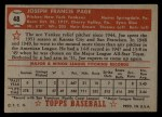 1952 Topps #48 RED  Joe Page Back Thumbnail
