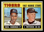 1967 Topps #72  Tigers Rookies  -  George Korince / John Matchick Front Thumbnail
