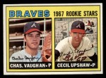 1967 Topps #179   Braves Rookie Stars  -  Cecil Upshaw / Charles Vaughan Front Thumbnail
