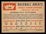 1960 Fleer #58   Charlie Gehringer Back Thumbnail