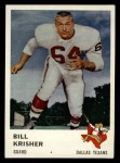 1961 Fleer #205  Bill Krisher  Front Thumbnail