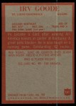 1965 Philadelphia #161  Irv Goode   Back Thumbnail