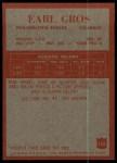 1965 Philadelphia #133  Earl Gros   Back Thumbnail
