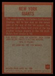 1965 Philadelphia #113   Giants Team Back Thumbnail