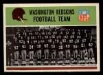 1965 Philadelphia #183  Redskins Team  Front Thumbnail