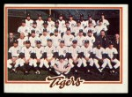 1978 Topps #404   Tigers Team Checklist Front Thumbnail