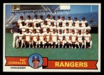 1979 Topps #499  Rangers Team Checklist  -  Pat Corrales  Front Thumbnail