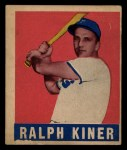 1949 Leaf #91  Ralph Kiner  Front Thumbnail