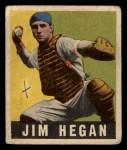 1949 Leaf #28   Jim Hegan Front Thumbnail