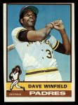 1976 Topps #160  Dave Winfield  Front Thumbnail