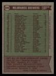 1976 Topps #606  Brewers Team Checklist  -  Alex Grammas Back Thumbnail