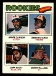 1977 Topps #473  Rookie Outfielders    -  Andre Dawson / Gene Richards / John Scott / Denny Walling Front Thumbnail