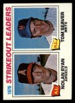1977 Topps #6   -  Nolan Ryan / Tom Seaver Strikeout Leaders   Front Thumbnail