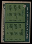 1977 Topps #6   -  Nolan Ryan / Tom Seaver Strikeout Leaders   Back Thumbnail