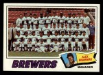 1977 Topps #51  Brewers Team Checklist  -  Alex Grammas Front Thumbnail