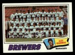 1977 Topps #51   -  Alex Grammas Brewers Team Checklist Front Thumbnail